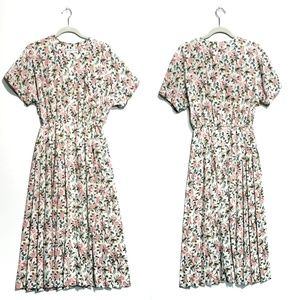 Vintage Cream Floral Justine Todd Button Up Dress